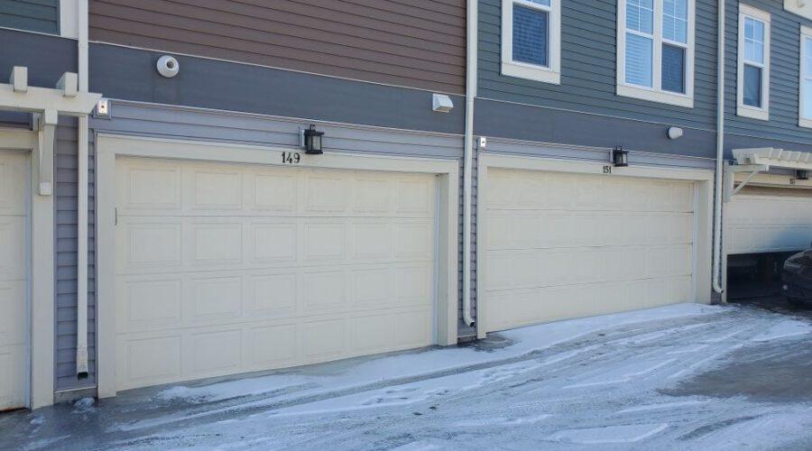 garage doors of a town house