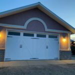 New white barn style garage door