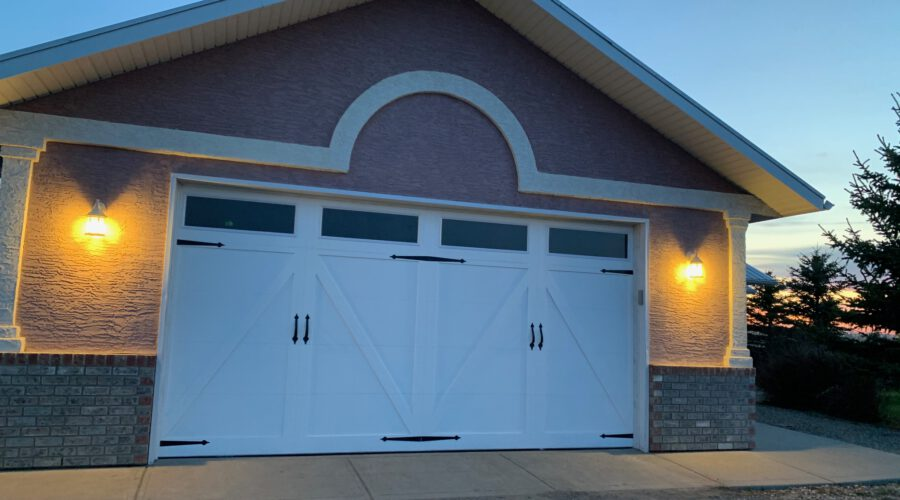 New white barn style garage door