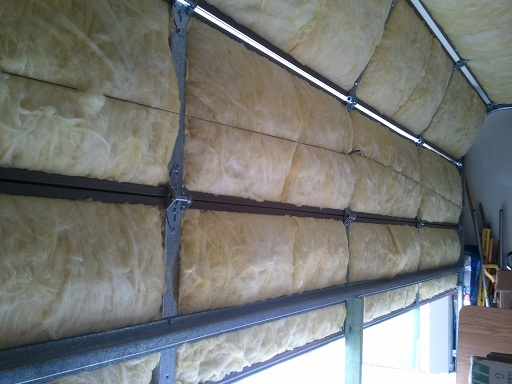 Garage door insulation